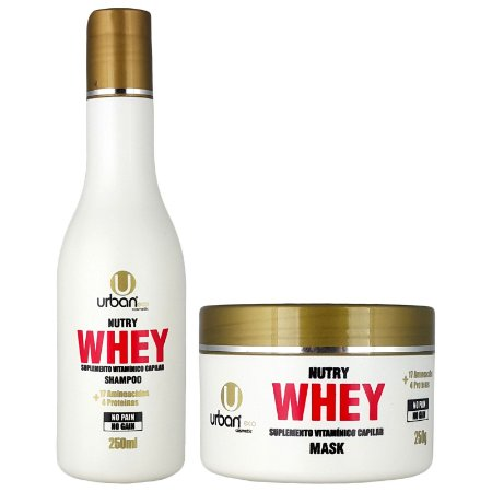 Kit Anabolic Hair Nutry Whey - Shampoo e Mascara - Urban Eco