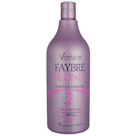 Progressiva Máscara Thermica Liss Faybre Blond Fase 2 - 1Lt Vitaflyne