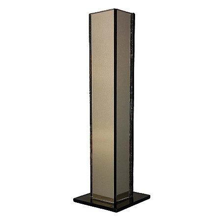 Vaso Solitário Espelhado Bronze Decoração Festa Casamento 20 x 3,5 x 3,5 cm - VEG