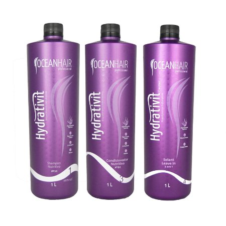 Kit Hidratação Nutritivo + Leave-in Hydrativit Homecare - 1 Litro - Ocean Hair