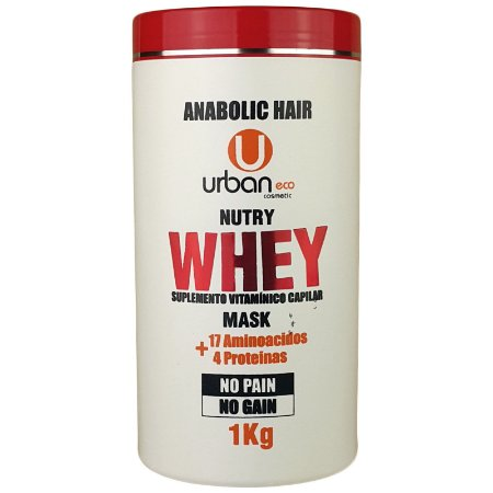 Máscara Nutry Whey Suplemento Vitamínico Capilar No Pain No Gain 1 Kg - Urban Eco