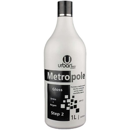 Gloss Metropole Uréia+Argan 1 Litro - Urban Eco