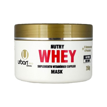 Máscara Nutry Whey Suplemento Vitamínico Capilar No Pain No Gain 250 grs - Urban Eco