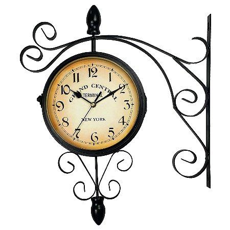 Relógio de Parede Decorativo Estilo Retrô Vintage Estação de Trem Antiga Grand Central New York