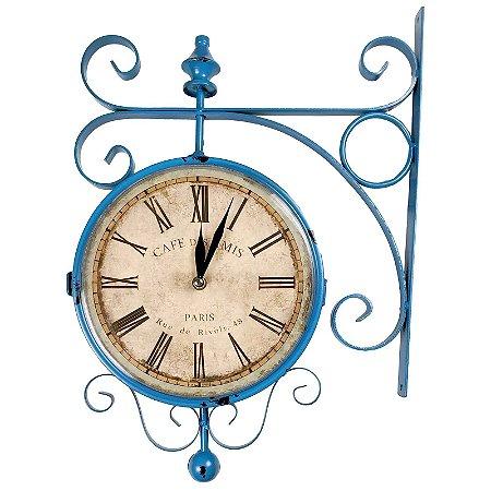 Relógio para Decoração Vintage Retrô Modelo Estação de Trem de Paris - Números Romanos