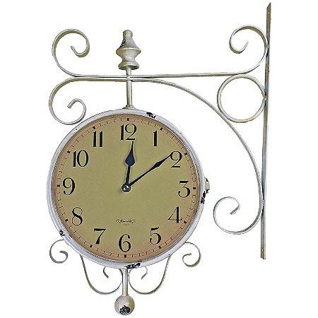 Relógio de Parede com Suporte para Pendurar - Decoração Retrô Vintage Estação de Trem de Roma 1963