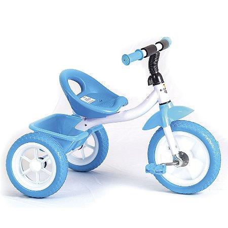 Triciclo Infantil Com Pedais e Bagageiro Traseiro Rodas Emborrachadas - Unitoys