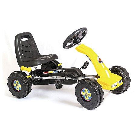 Mini Kart Infantil Colorido Com Pedal Encosto Músicas e Buzina - Unitoys