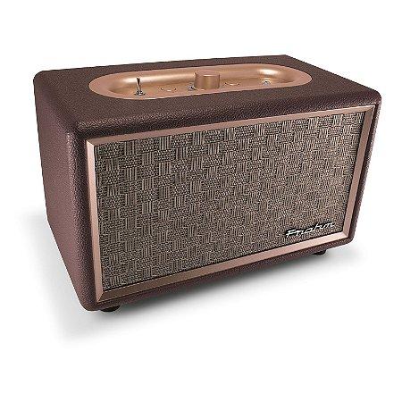 Caixa de Som Portátil Sound Estéreo Retrô Vintage Anos 60 Bivolt Conexão Bluetooth e P2 - Frahm