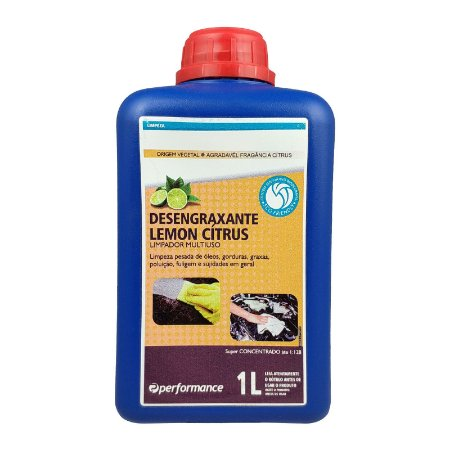 Desengraxante Lemon Cítrus Limpador Multiuso Óleos Gorduras e Graxas 1 Litro - Performance