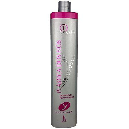 Shampoo Pré Tratamento Plástica dos Fios Limpeza Profunda 1 Litro - Yllen Cosméticos