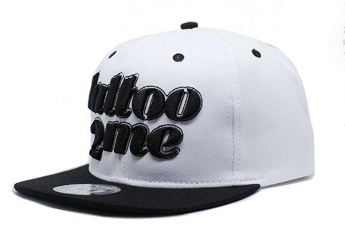 Boné Preto e Branco Tattoo2me