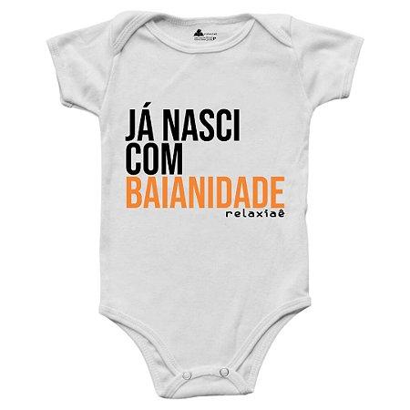 Body de Bebê Já Nasci com Baianidade