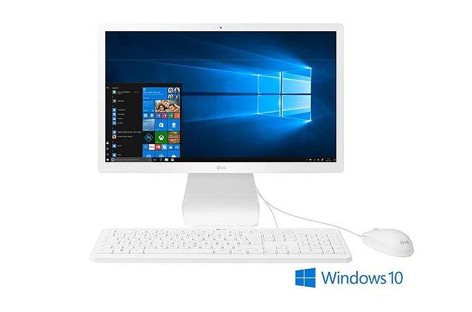 "Computador All in One LG Intel Celeron Quad Core 4GB 240GB TELA 21,5"" Full HD Windows 10 - Branco 22V280-L.BY31P1"