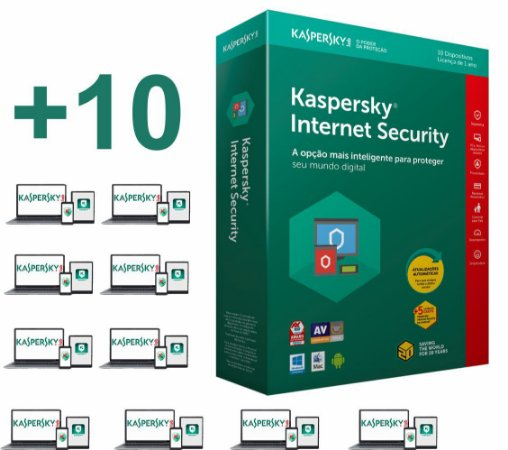 Kaspersky Internet Security 2020licença para 10 PC's (dispositivos) por 1 ano - VERSÃO DOWNLOAD