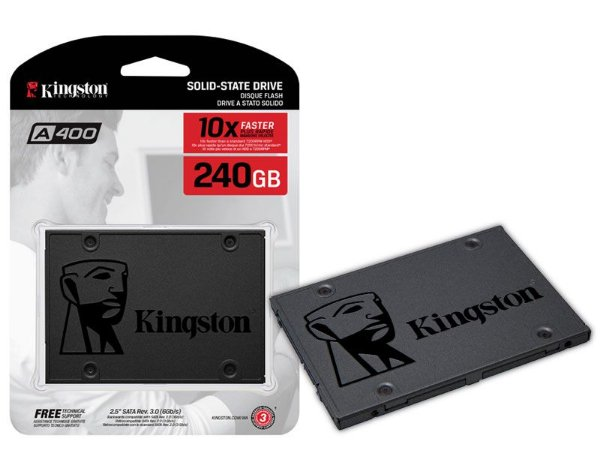 "HD SSD 240GB  KINGSTON  para DESKTOP, NOTEBOOK e ULTRABOOK  2.5"" SATA III A400"