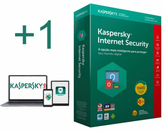 kaspersky Internet Security 2019 para 01 Notebook e 01 Smartphone Android por 1 ano
