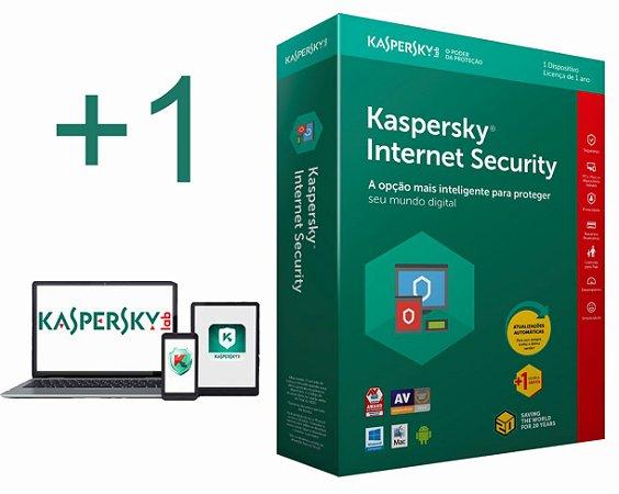 kaspersky Internet Security 2020 para 01 Notebook e 01 Smartphone Android por 1 ano