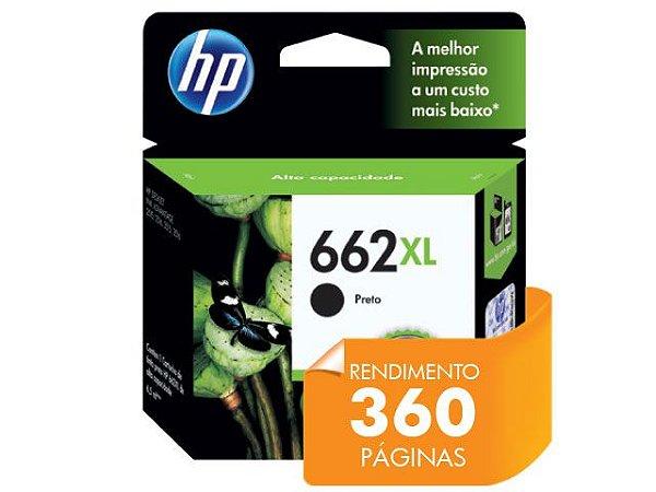 CARTUCHO DE TINTA HP 662XL PRETO 6,5 ML