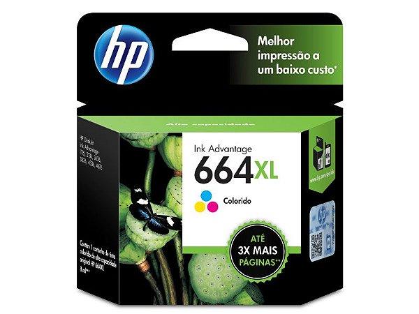 CARTUCHO DE TINTA HP 664XL TRICOLOR 8,0 ML