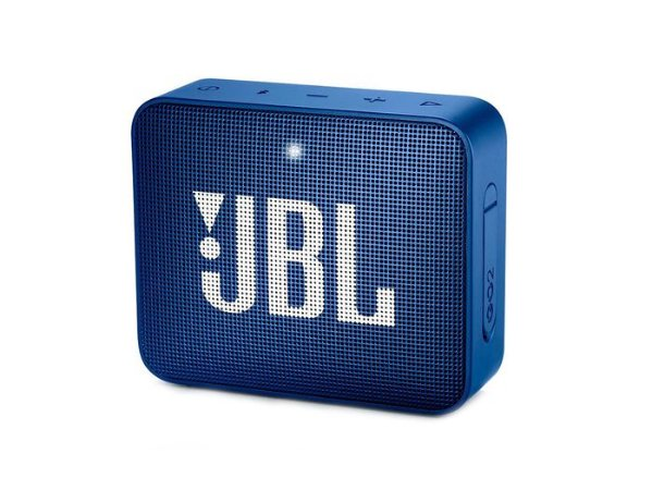Caixa Bluetooth JBL GO2 AZUL, À prova d'água, Bluetooth, S/Fio, Viva voz, Recarregável, Autonomia para 5hs