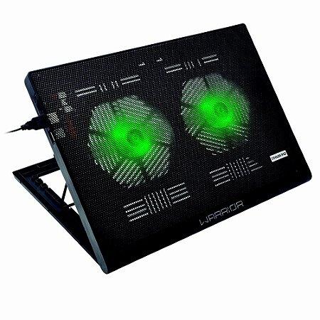 Base Cooler Gamer Led Verde Multilaser- Ac267