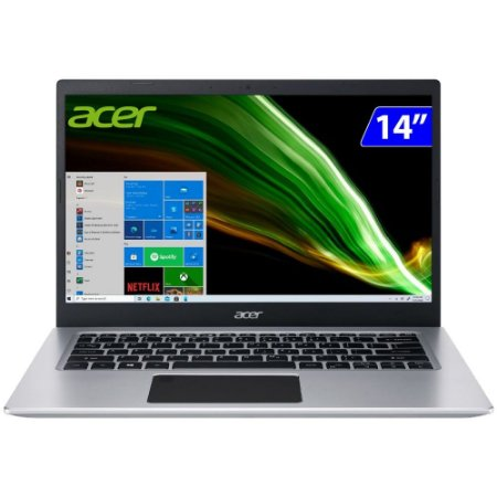 """Notebook Acer Aspire 5 i5-10ª GERAÇÃO W10 8GB 256GB SSD TELA 14""""- Prata - Bivolt  A514-53-59QJ"""