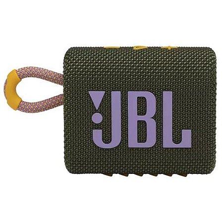CAIXA BLUETOOTH JBL GO3 GREEN VERDE