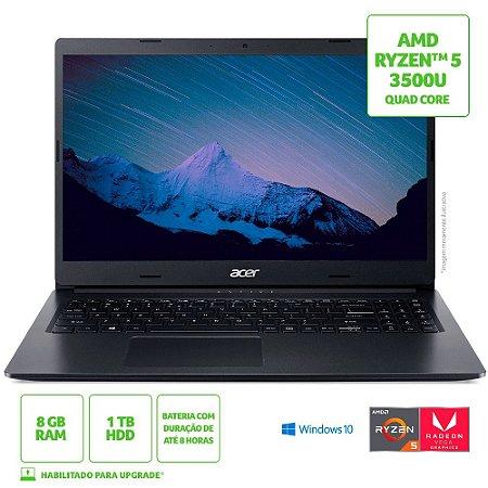 Notebook Acer Aspire 3 A315-23-R24V AMD Ryzen 5 8GB 1TB HD 15,6' Windows 10