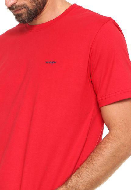Camiseta Wrangler Básica - Vermelha