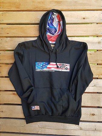 Moleton 2k/preto/bandeira americana