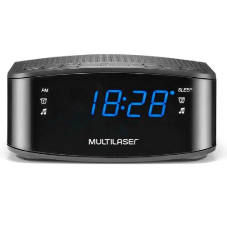 Radio Relógio Digital Preto SP288 - Multilaser