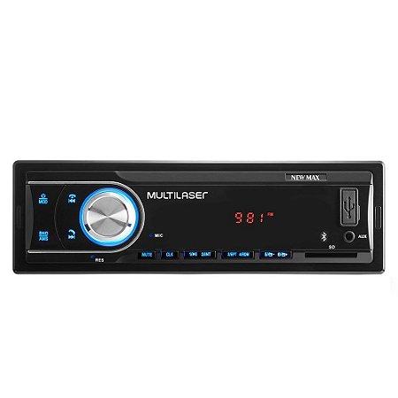 Som Automotivo Multilaser P3326 New Max Entrada USB, Auxiliar e SD Card, Bluetooth e Radio FM