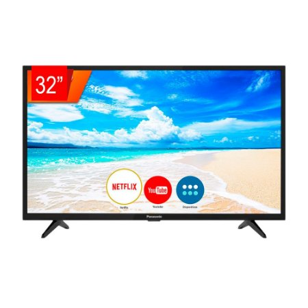 "Smart TV LED Panasonic 32"" 32FS500B HD, Espelhamento de Tela, Media Player, Wi-Fi Integrado"