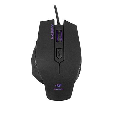 Mouse Gamer USB HARPY MG-100BK Preto C3Tech