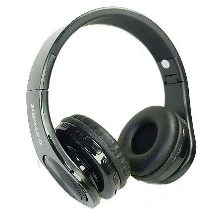 Fone de Ouvido Sem Fio Bluetooth EO602 Preto Evolut