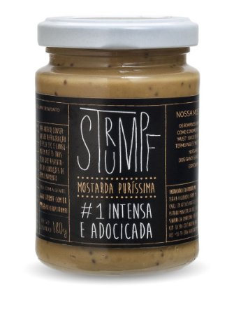 Mostarda Strumpf - #1 Intensa e Adocicada Pote Vidro 180 g