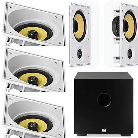 kit Home JBL 5.1-3 cxs CI6SA + 2 cxs CI6R + Subwoofer Cube 8