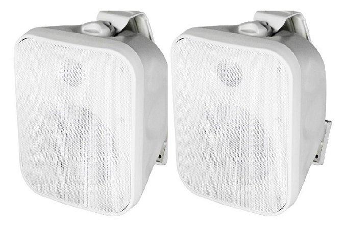 Caixa Acústica AAT OS120-IP56 Sol e Chuva ( Branca ) ( Par )