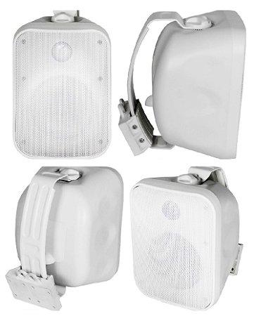 Caixa Acústica AAT OS120-IP56 Sol e Chuva Branca- 4 Unidades