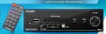 AMPLIFICADOR RD80 BLUETOOTH NETFLIX FRAHM + PAR DE CAIXA SP400