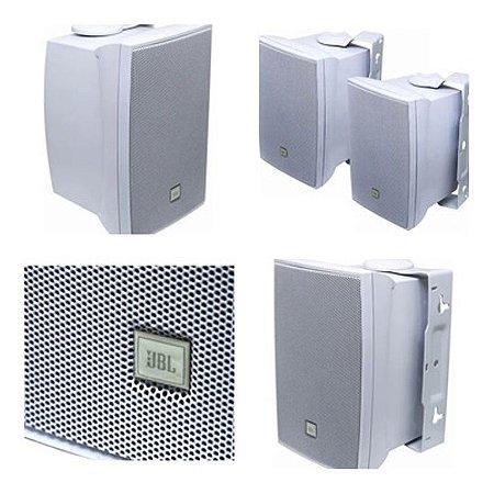 Caixa Acústica JBL p/ Som Ambiente 50W RMS C621B Branca (Par)