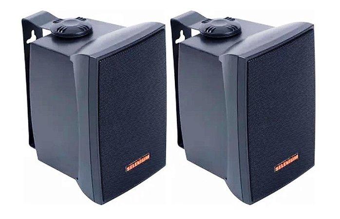 Caixa Acústica JBL  p/ Som Ambiente 30W RMS C321P Selenium / Preta (Par)