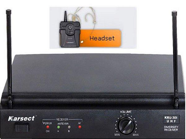 Microfone sem fio Karsect KRU-301/KST-5U HEADSET