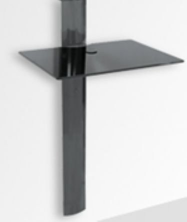 Rack Airon Simply 45/1 BLACK / GLASS BLACK