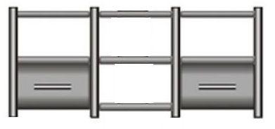 Rack Airon HT-150.02 com 2 gavetas cor black