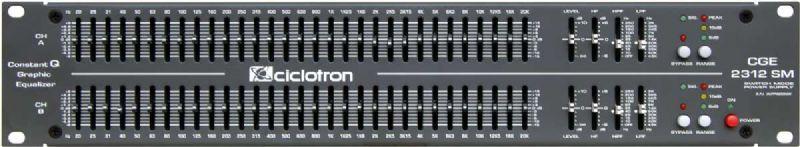 Equalizador 2 canais com 31 bandas Ciclotron CGE-2312SG
