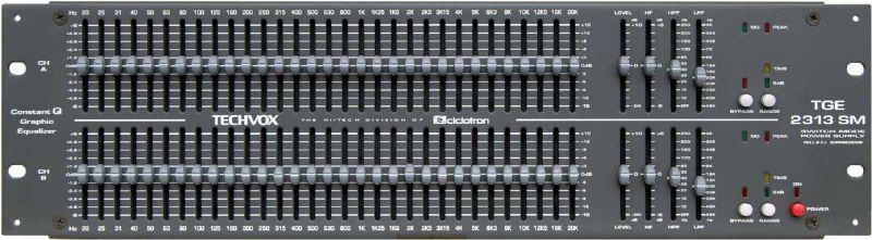 Equalizador 2 canais com 31 bandas Ciclotron TGE-2313SM