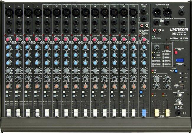 Mesa de Som Audio Stereo Ciclotron AMBW 16 EXD USB
