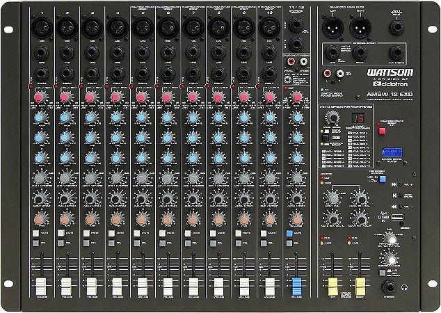 Mesa de Som Audio Stereo CICLOTRON AMBW 12 EXD USB
